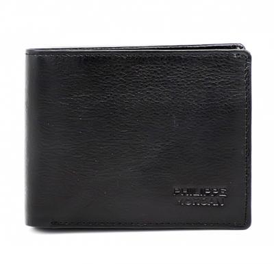 Philippe Morgan premium Leather Wallet 603 Black