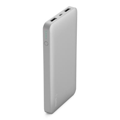 Belkin Power Bank 10000Mah with 2 USB Ports Silver, F7U020btSLV
