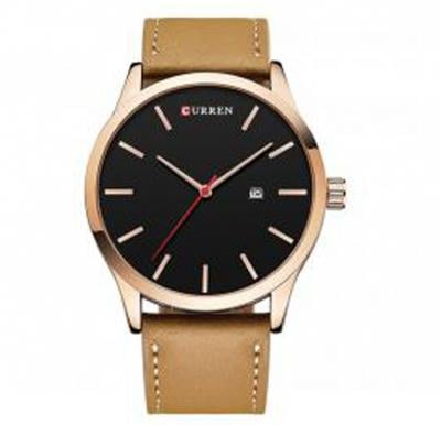 Curren Brown Leather Strap Band Mens Watch, -M 8214
