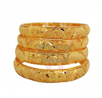 Nathasha Arts 22K Gold Plated BABY Design Bangles 4 Piece Set, 009