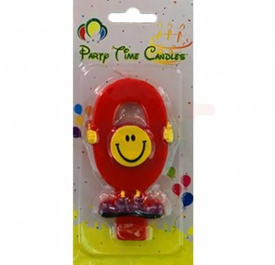 Party Time Smiley Candle 0 M082
