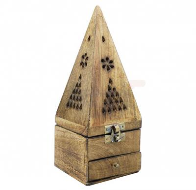 Piramid Wooden Manual Burner For Bakhoor - OS-PWMB-1318