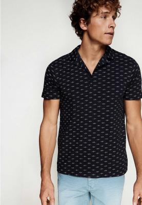 Springfield Polo Fancy T-Shirt Dark Blue with Dots, Size S