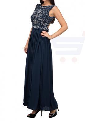 TFNC London Paula Sequin Top Maxi Evening Dress Navy - TNV 00270 - XL