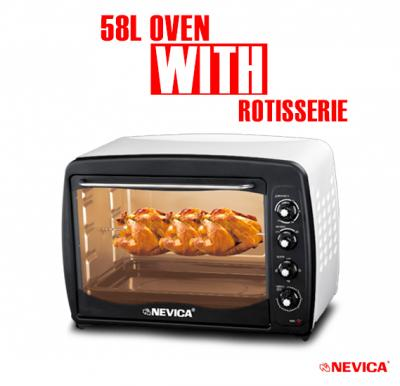 Nevica 58L Oven With Rotisserie - NV-898