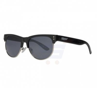 Zippo Classic Semi Rimless Sunglasses Smoke Flash - OB16-01