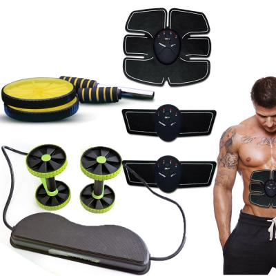 3 in 1 combo Smart Fitness Mobile-Gym Waist Fitness Workout Training Equipment Wheel Roller Wheels and Knee Pad