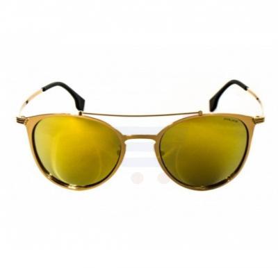 Police Oval Gold Frame & Gold Mirrored Sunglasses For Men - SPL156V-300G