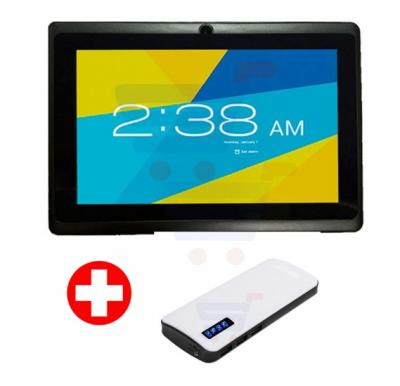 Bundle Offer! Lenosed A710 Tablet, Android 4.2.2, 7 Inch LCD Display, 1GB RAM, 8GB Storage, Dual Camera, Wifi- Black And Get Power Box 15000 mAh Power Bank For Smartphones & Tablets With 20CM Micro USB Cable Free
