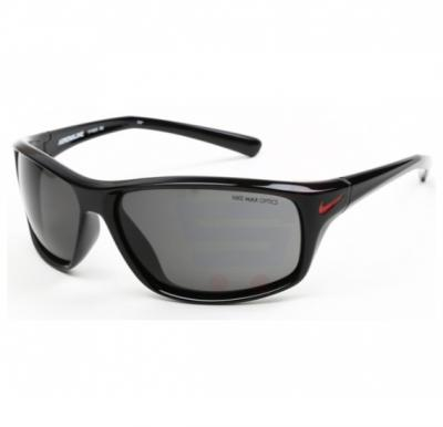 Nike Rectangular Black Frame & Grey Mirrored Sunglasses For Unisex - EVO605-001