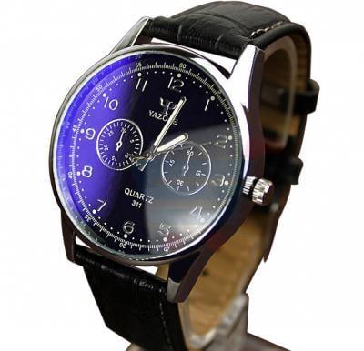 Yazole Quartz 311 Watch For Men Leather Strap