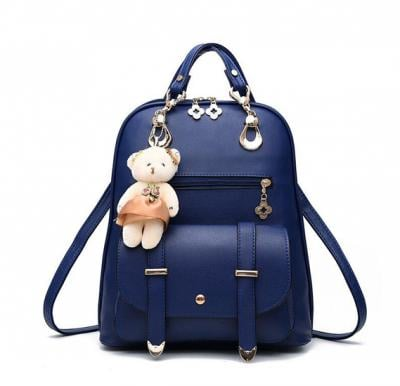 Vogue Star New Designer Women Backpack For Teens Girls-Blue