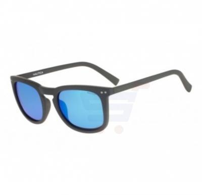 Nautica Round Grey Frame & Blue Mirrored Sunglasses For Unisex - N3613SP-014