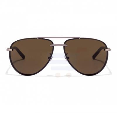 Mont Blanc Aviator Gunmetal/ Black Frame & Brown Mirrored Sunglasses For Unisex - MB596S-08J