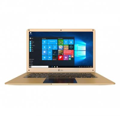 i-life Zed air H2 NoteBook, 14 Inch Display, Intel Celeron, 3 GB RAM, 32 GB eMMC, 500 GB HDD, English Arabic Keyboard, Windows 10 - Gold