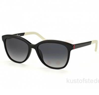 Carolina Herrera Oval Black White Mix Frame & Gray Gradient Mirrored Sunglasses For Women - SHE647-0700