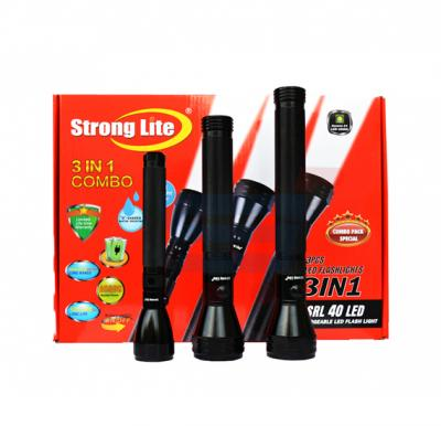 Strong Lite LED Flash Light Combo SRL-40,(3 In 1)