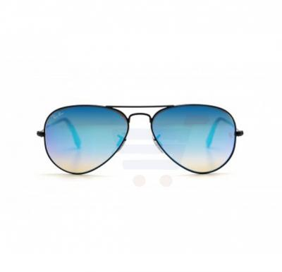 Ray-Ban Pilot Black Frame & Blue Gradient Flash Mirrored Sunglasses For Unisex - RB3025-002-4O-58