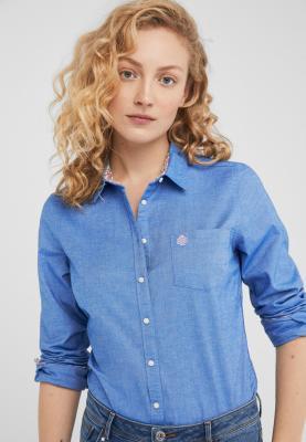 Springfield Womens  Shirt Plain Dark Blue