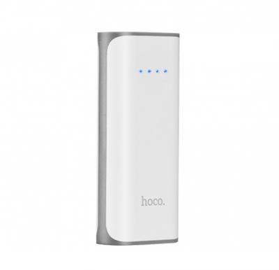 Hoco 5200mAh Tiny Concave pattern Power bank - White, B21
