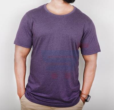 Highlander Mens Cotton Round Neck Half Sleeve T-Shirt Purple - Large