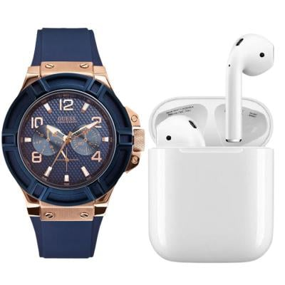 Buy Guess W0247G3 Analog Blue Dial Mens Watch and Get Apple AirPods 2 Free