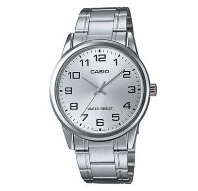 Casio Stainless Steel Casual Watch For Men Silver White,  MTP-V001D-7BUDF