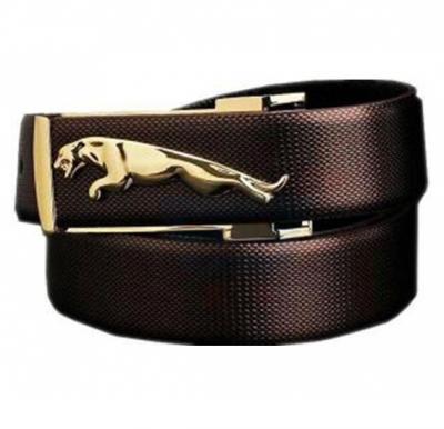 Jaguar Leather Belt For Men, Brown
