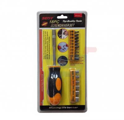 18 Pieces Combination Screwdriver Set, MT-5108