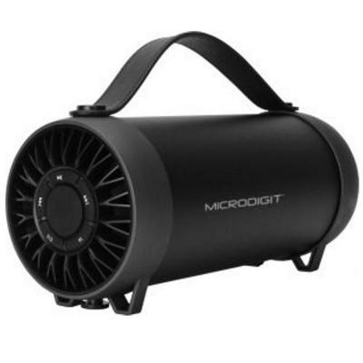 Microdigit Bluetooth Portable Drum Speaker For Multi, Black M0061RT