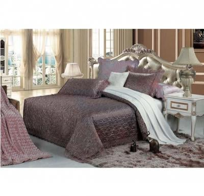 Senoures Blue Marine Jacquard Bed Spread 3Pcs Set Double - SBJ-033