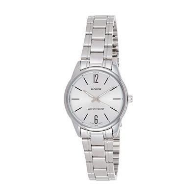 Casio Womens Silver Dial Analog Dress Watch, LTP-V005D-7BUDF