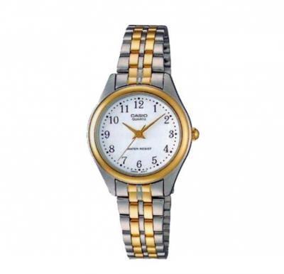 Casio LTP-1129G-7BRDF Enticer Analog White Dial Mens Watch