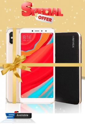 Xiaomi Redmi S2, Dual SIM, 32GB, 3GB RAM, 4G LTE Gold (Global Version) + Nevica Power Bank - Battery : 10000 mAh, Xaiomi Mobile Bundle Offers
