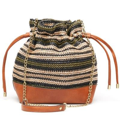 Springfield Fashion Womens Bag, Brown With Multi Color