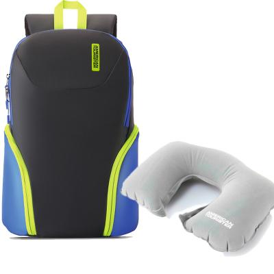 2 in 1 Travel Pack Offer American Tourister Bff Backpack and American Tourister Grey Travel Pillow