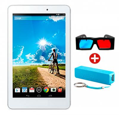 G-Touch G007 7 inchTablet, 3G, 3D, Android 4.4.2, 8GB Storage, 1GB RAM, Dual Sim, Camera, WiFi and Get 3D Glass + Power Bank Free!