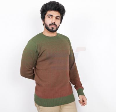 Score Jeans Mens Sweater Full Sleev Green - HF585 - L
