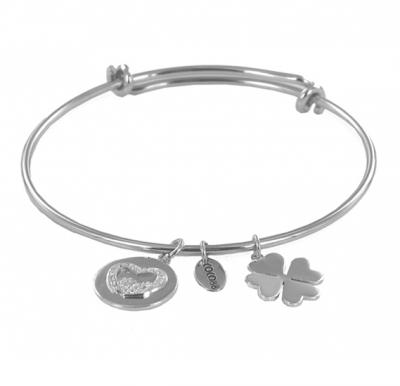 Coco88 Womens Stainless Steel Bangle ,8CB-20001 STEEL