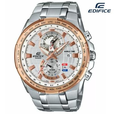 Edifice Chronograph Stainless Steel Silver Dial Men Watch, EFR-550D-7AVUDF