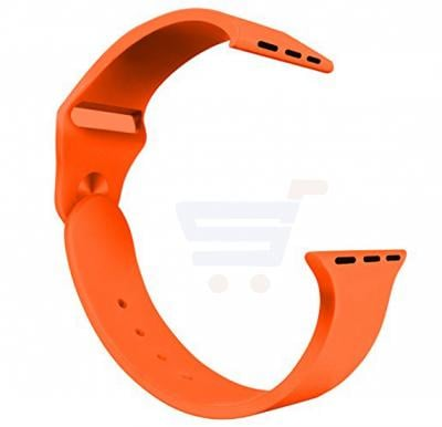 Silicone Sport Replacement Watch Band For Apple Watch 42MM Orange