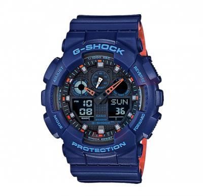 Casio G-Shock GA-100L-2ADR Analog Digital Watch For Men-Blue