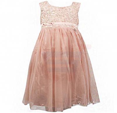 Amigo 7  Children Dress  Pink Champagne - 6-9M - 1307