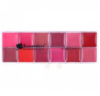 Ferrarucci Palette 70g, 12 Lip Color