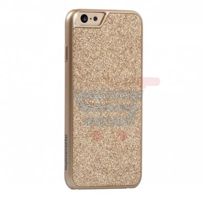 Promate Glare i6 iPhone Case, Premium Glittering Protective Case for Apple iPhone 6/6S, Gold