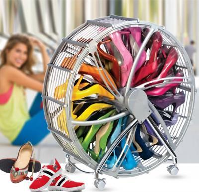 Shoe Storage Wheel - Silver