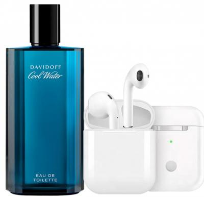 Davidoff Coolwater 125ml with Free Bluetooth earbud