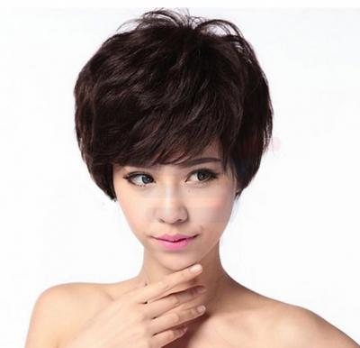Female Fluffy Short Curly Wig, RXJF