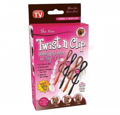 Twist N Clip Holds Your Hair For Girls
