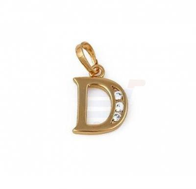 Xuping Necklace Pendant Gold Plated Letter  D